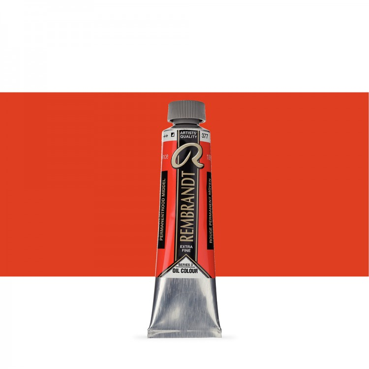 Talens : Rembrandt Oil Paint : 40 ml Tube : Permanent Red Medium