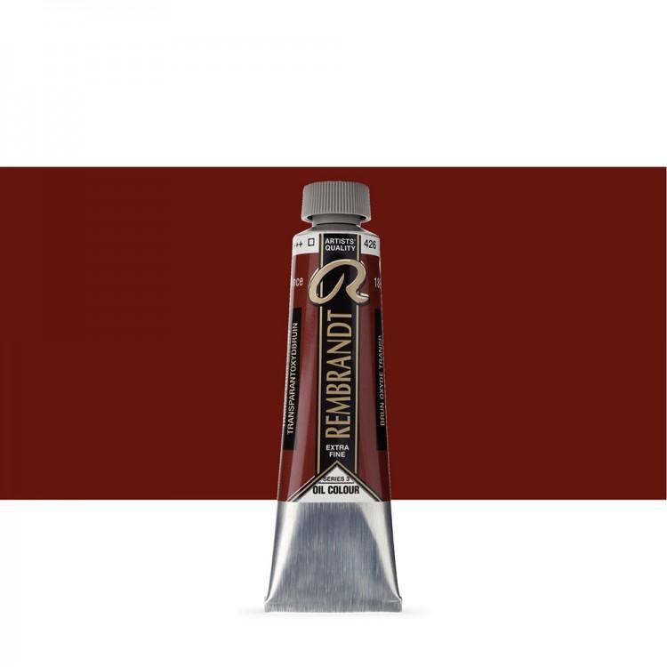 Talens : Rembrandt Oil Paint : 40 ml Tube : Transparent Oxide Brown