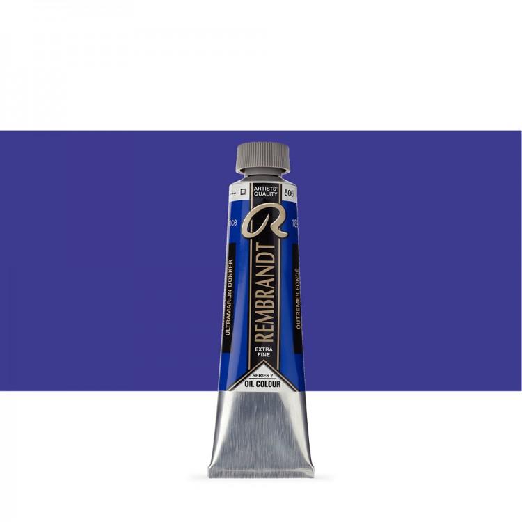 Talens : Rembrandt Oil Paint : 40 ml Tube : Ultramarine Deep