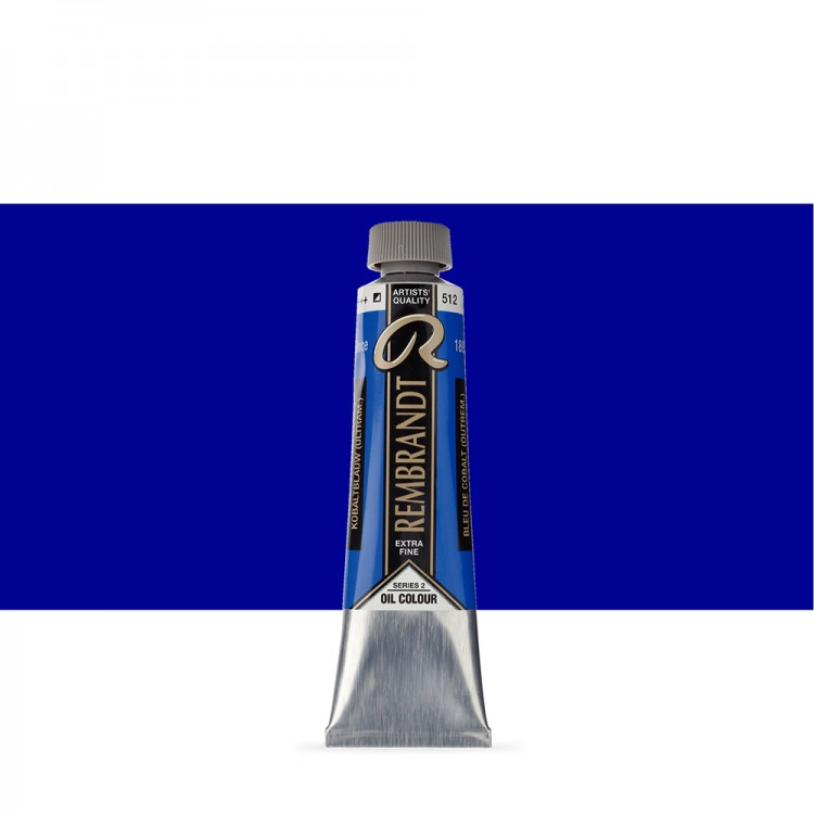 Talens : Rembrandt Oil Paint : 40 ml Tube : Cobalt Blue Ultram.
