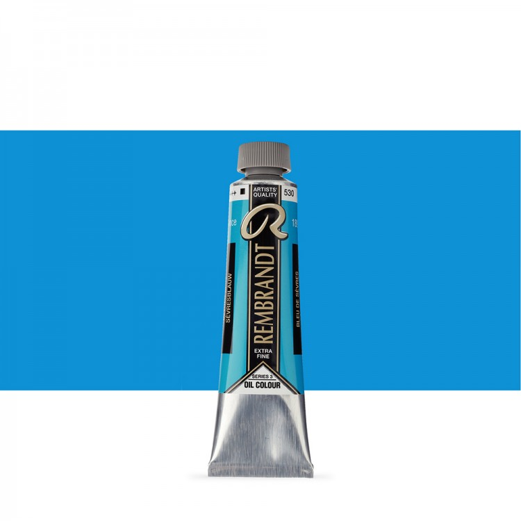 Talens : Rembrandt Oil Paint : 40 ml Tube : Sevres Blue