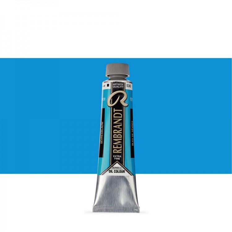 Talens : Rembrandt Oil Paint : 40 ml Tube : Sevres Blue