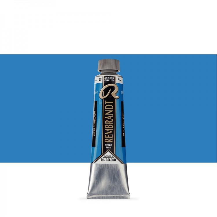 Talens : Rembrandt Oil Paint : 40 ml Tube : Cerulean Blue