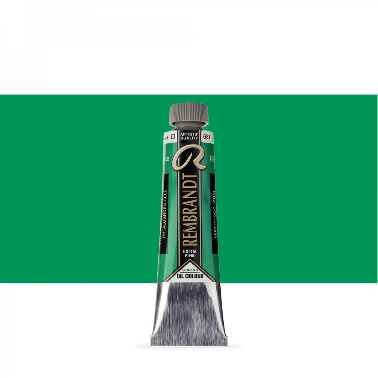 Talens : Rembrandt Oil Paint : 40 ml Tube : Phthalo Green Yellow