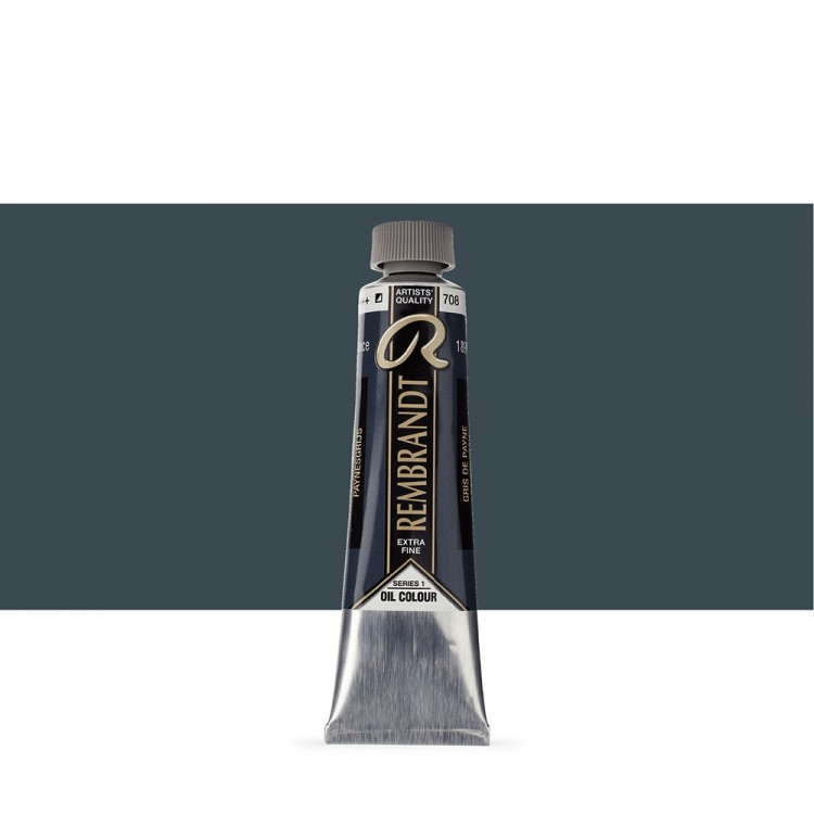 Talens : Rembrandt Oil Paint : 40 ml Tube : Paynes Grey