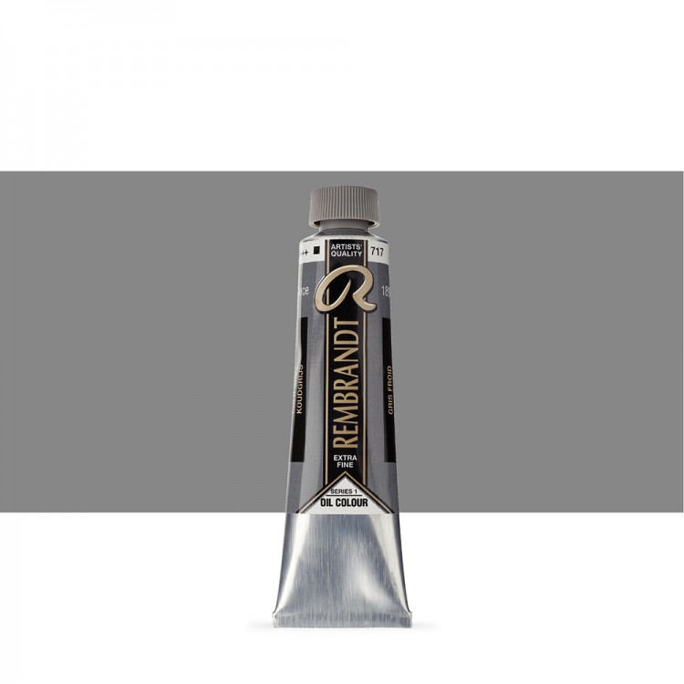 Talens : Rembrandt Oil Paint : 40 ml Tube : Cold Grey