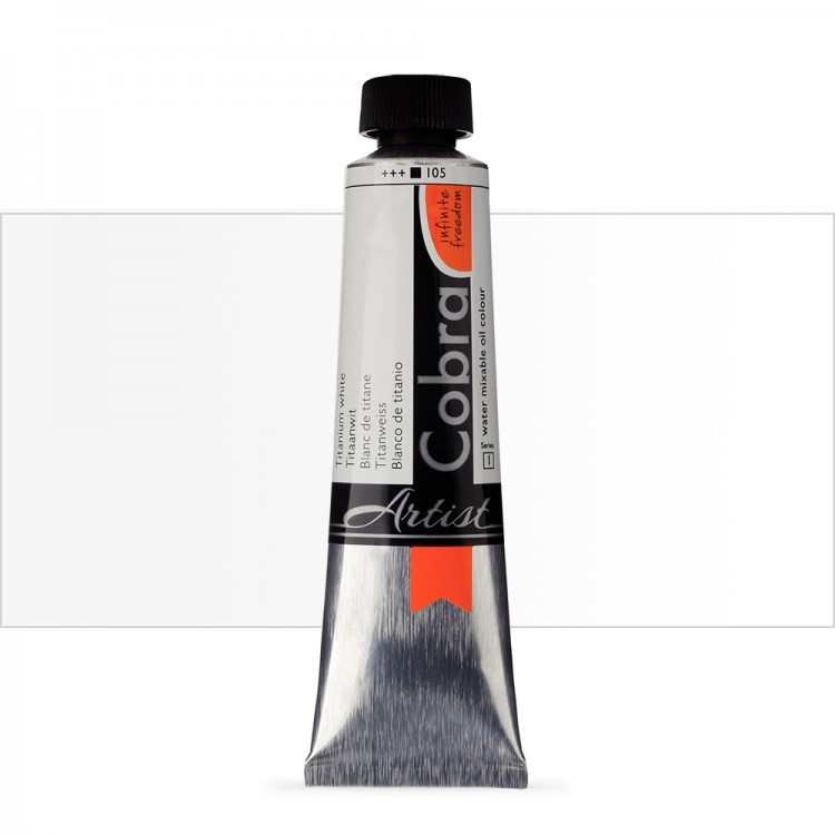 Talens : Cobra Artist Water Mixable Oil Paint : 40ml Titanium White