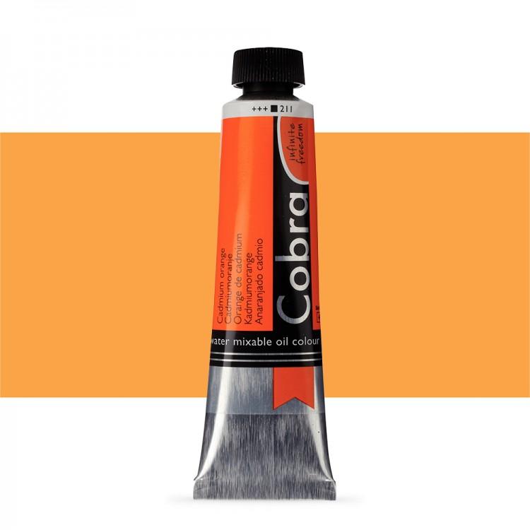 Talens : Cobra Artist Water Mixable Oil Paint : 40ml Cadmium Orange