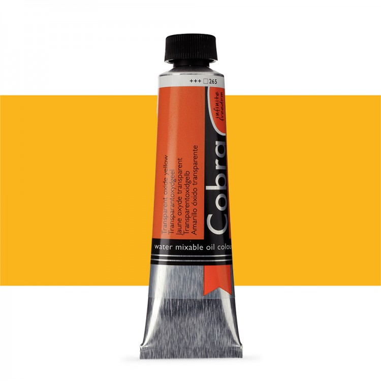 Talens : Cobra Artist Water Mixable Oil Paint : 40ml : Transparent Oxide Yellow