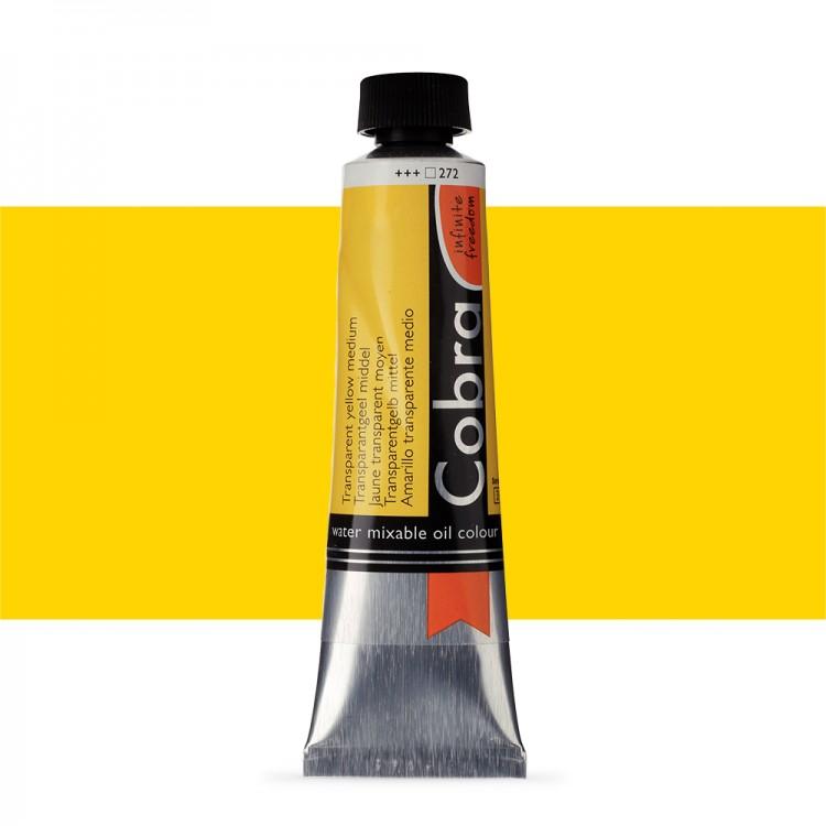 Talens : Cobra Artist Water Mixable Oil Paint : 40ml Transparent Yellow Medium