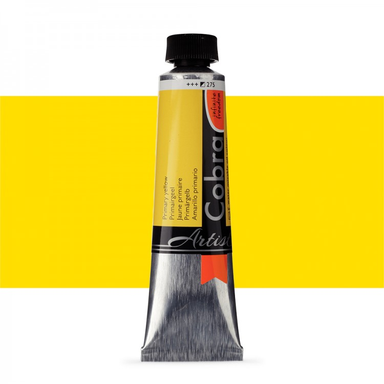 Talens : Cobra Artist Water Mixable Oil Paint : 40ml Primary Yellow