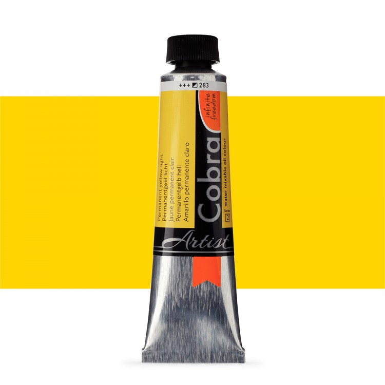 Talens : Cobra Artist Water Mixable Oil Paint : 40ml Permanent Yellow Light