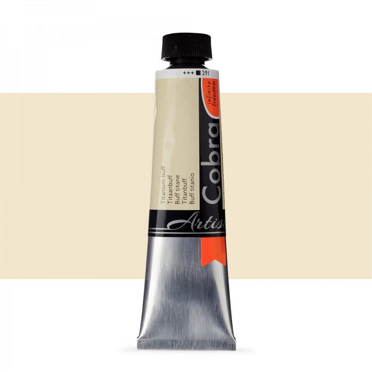 Talens : Cobra Artist Water Mixable Oil Paint : 40ml Titanium Buff
