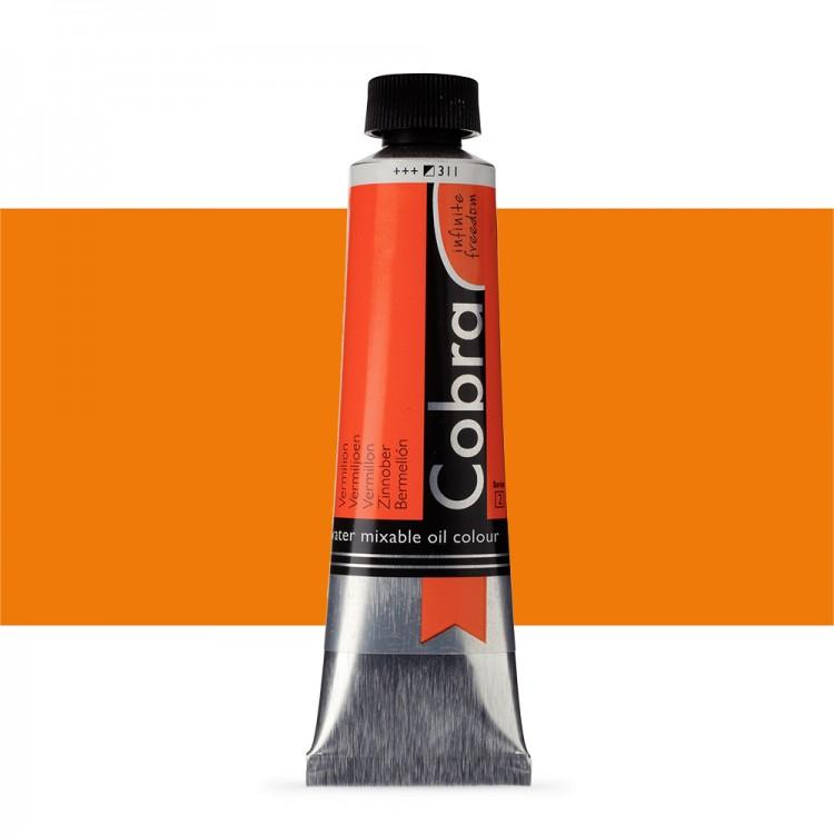 Talens : Cobra Artist Water Mixable Oil Paint : 40ml Vermilion