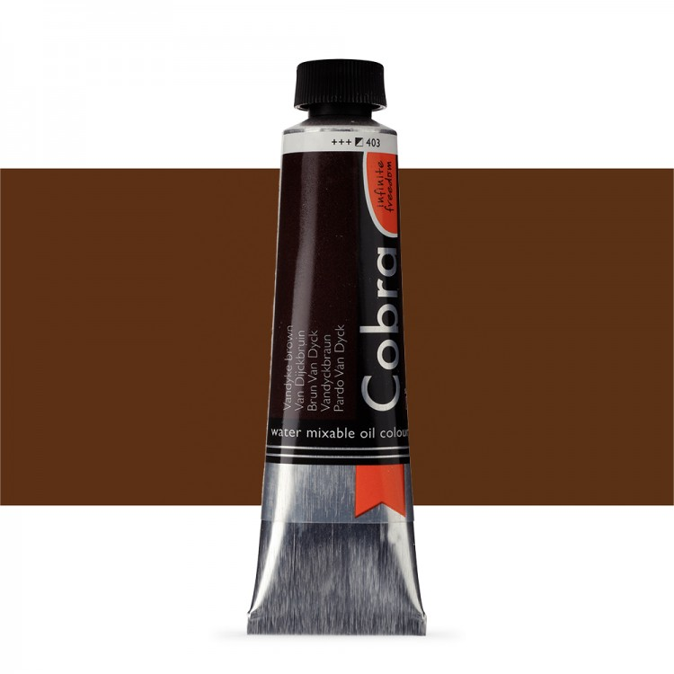 Talens : Cobra Artist Water Mixable Oil Paint : 40ml : Vandyke Brown