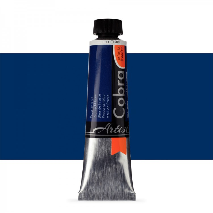 Talens : Cobra Artist Water Mixable Oil Paint : 40ml Prussian Blue