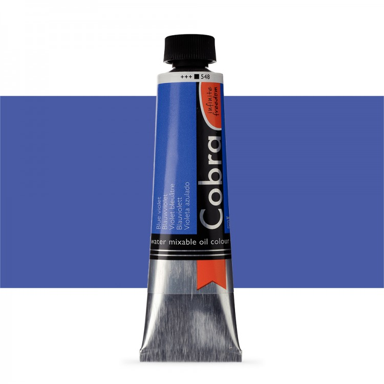 Talens : Cobra Artist Water Mixable Oil Paint : 40ml Blue Violet