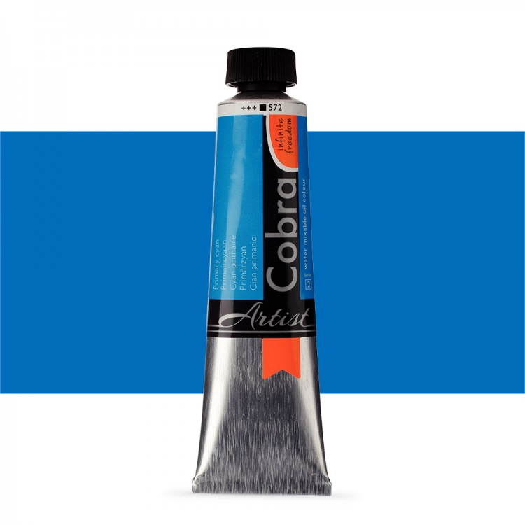 Talens : Cobra Artist Water Mixable Oil Paint : 40ml Primary Cyan