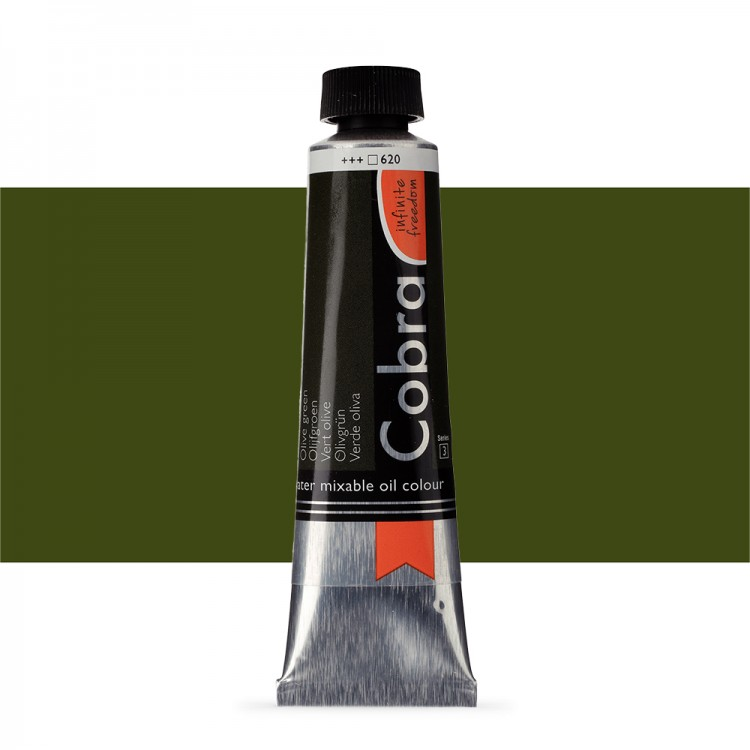 Talens : Cobra Artist Water Mixable Oil Paint : 40ml Olive Green