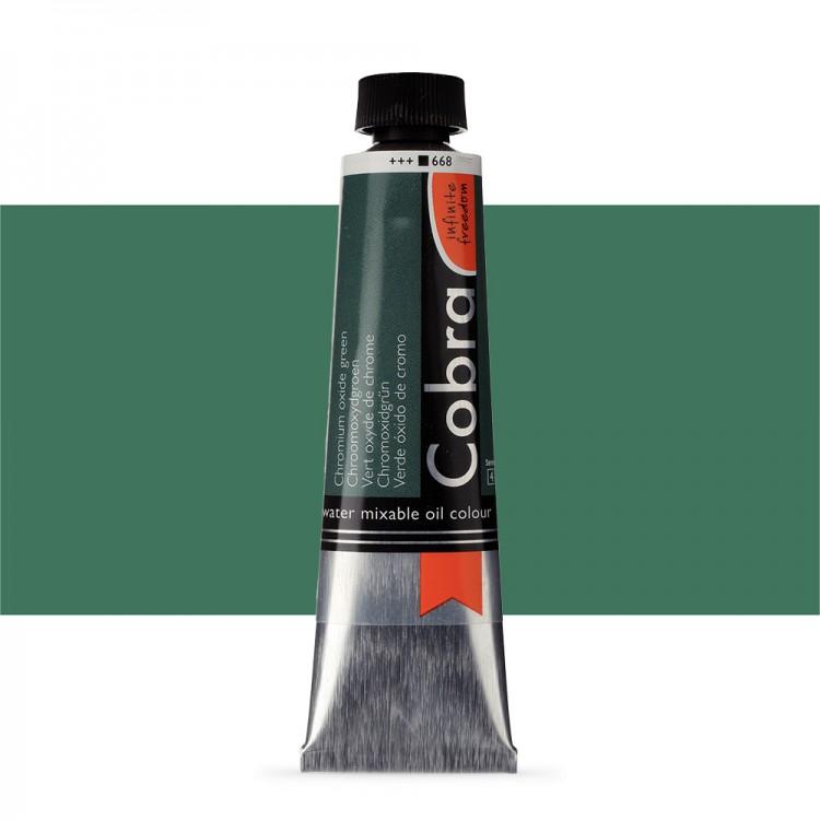 Talens : Cobra Artist Water Mixable Oil Paint : 40ml Chromium Oxide Green