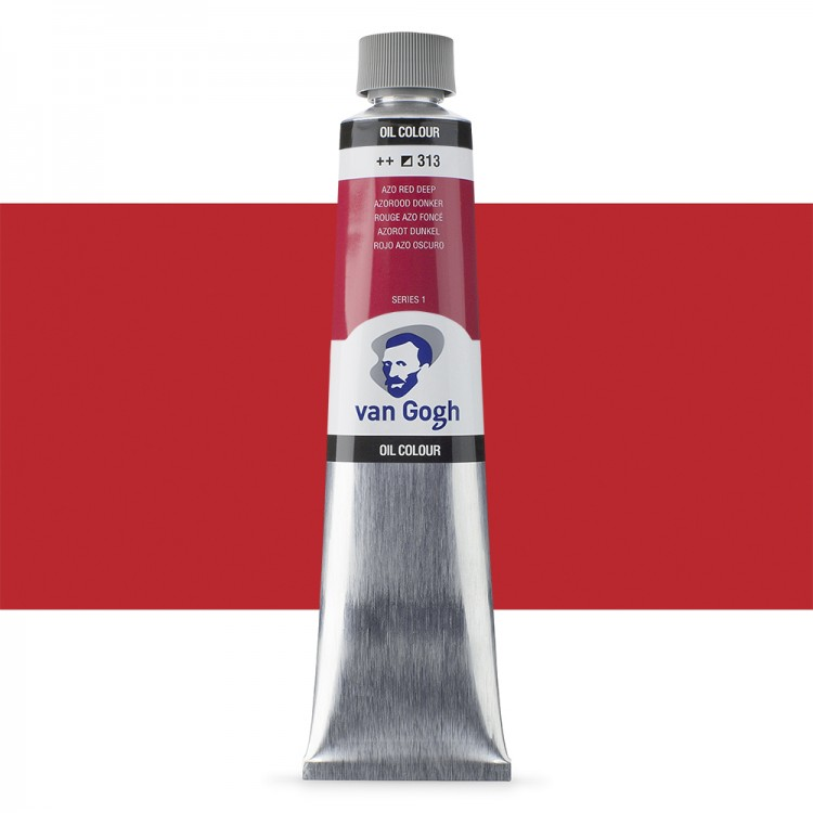 Talens : Van Gogh Oil Colour 200ml : AZO RED DEEP S1