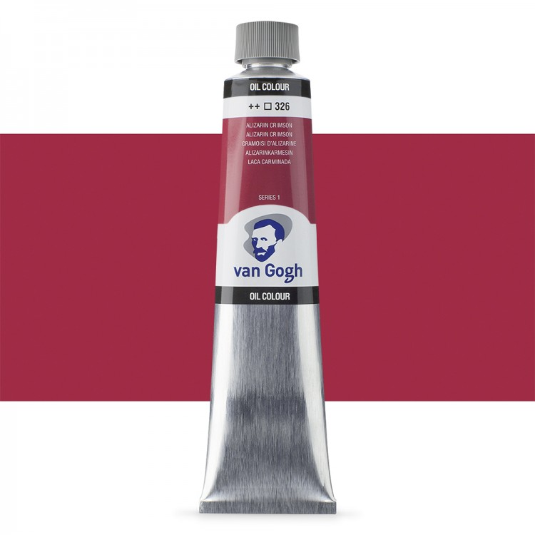 Talens : Van Gogh Oil Colour 200ml : ALIZARIN CRIMSON S1