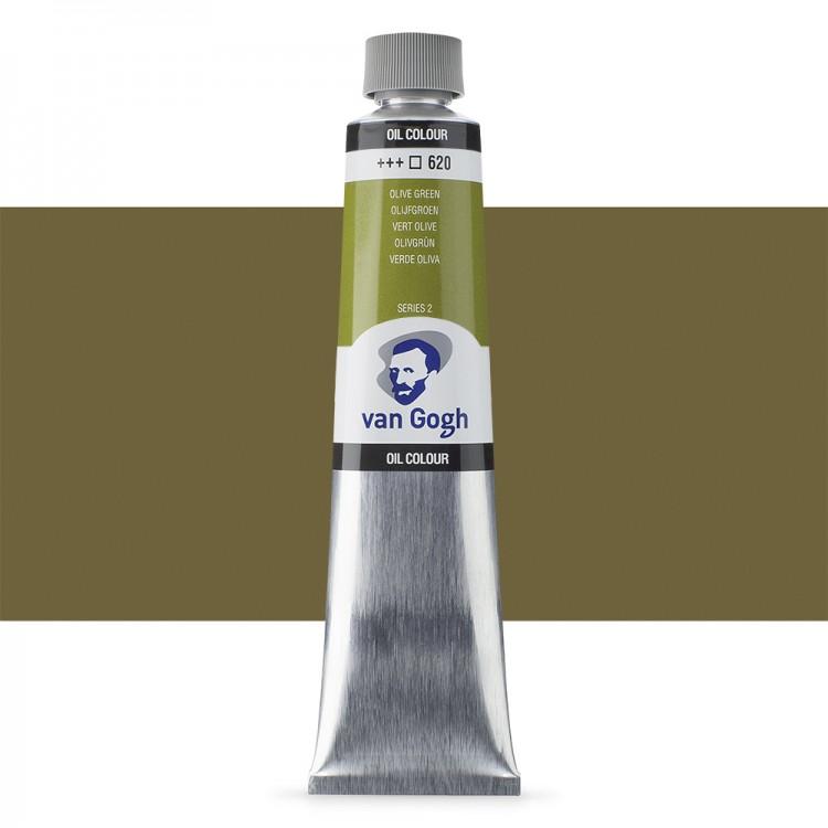 Talens : Van Gogh Oil Paint 200ml : Permament Olive Green S2