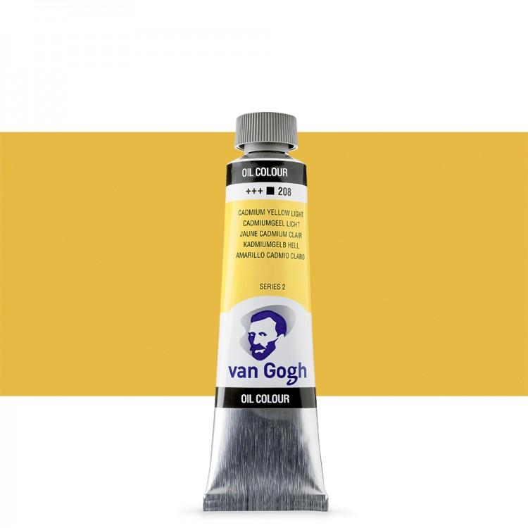 Talens : Van Gogh Oil Paint : 40ml : Cadmium Yellow Lt S2