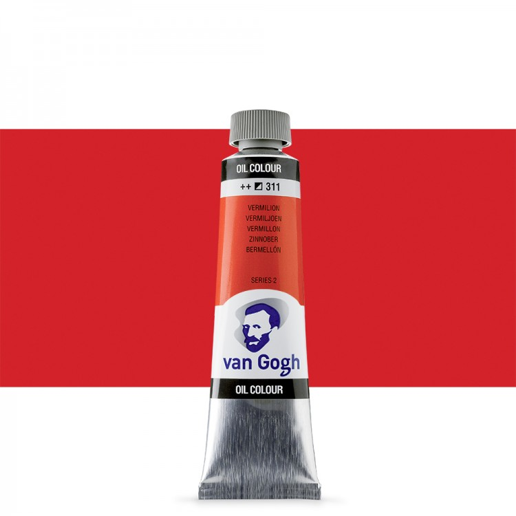 Talens : Van Gogh Oil Paint : 40ml : Vermilion S2
