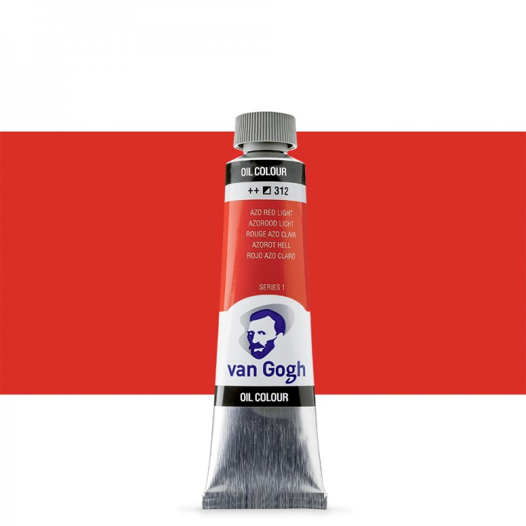 Talens : Van Gogh Oil Paint : 40ml : Azo Red Light S1