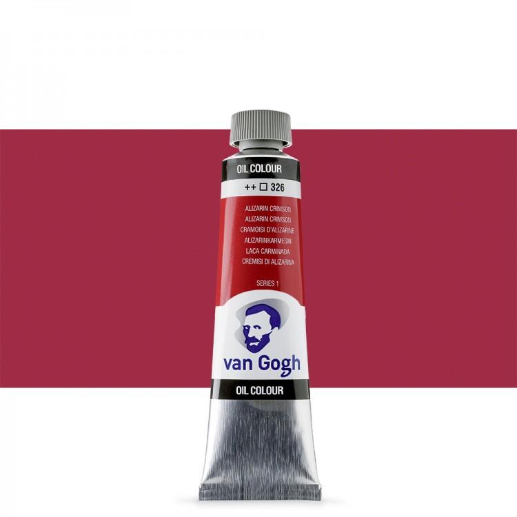 Talens : Van Gogh Oil Paint : 40ml : Alizarin Crimson S1