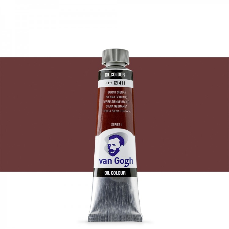 Talens : Van Gogh Oil Paint : 40ml : Burnt Sienna S1