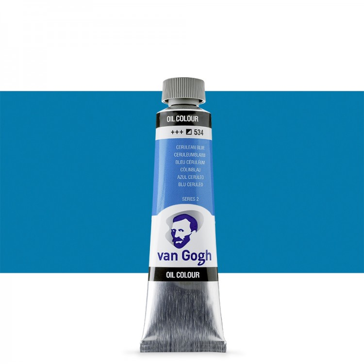 Talens : Van Gogh Oil Colour 40ml : CERULEAN BLUE S2