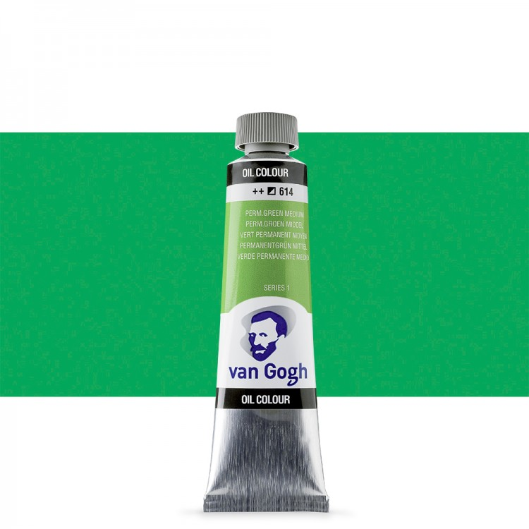 Talens : Van Gogh Oil Paint 40ml : Permanent Green Medium S1