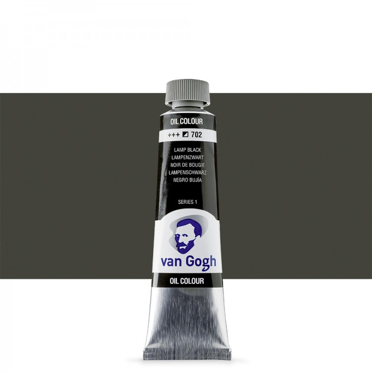 Talens : Van Gogh Oil Paint : 40ml : Lamp Black S1