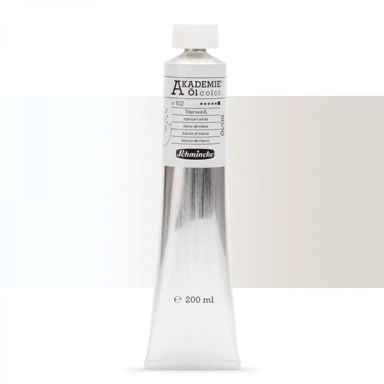 Schmincke : Akademie Oil Paint : 200ml : Titanium White