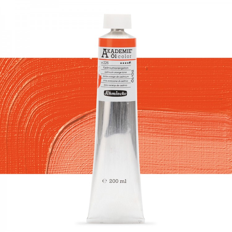 Schmincke : Akademie Oil Paint : 200ml : Cadmium Orange Tone