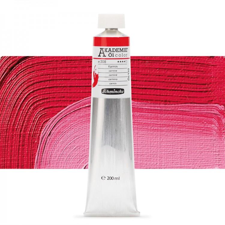 Schmincke : Akademie Oil Paint : 200ml : Carmine
