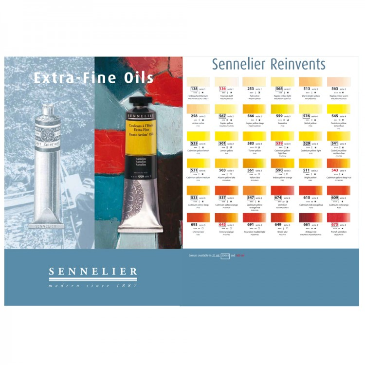 Sennelier : Oil Paint : Colour Chart