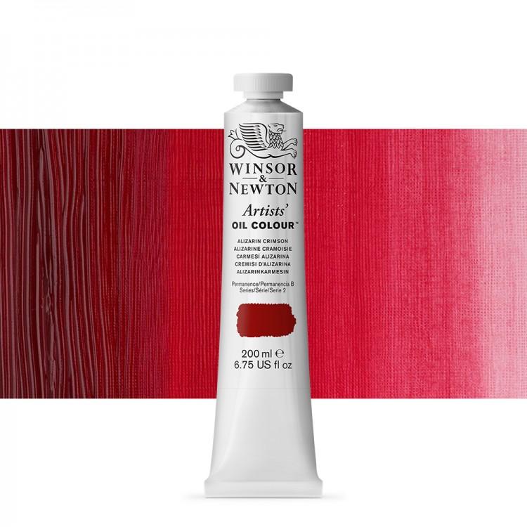 Winsor And Newton : Artists Oil 200ml : Alizarin Crimson
