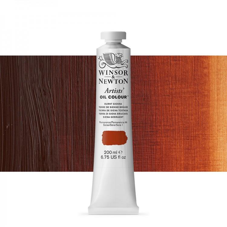 Winsor & Newton : Artists Oil Paint : 200ml : Burnt Sienna