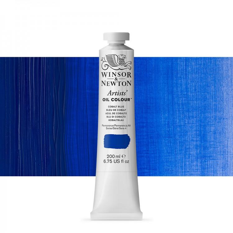 Winsor & Newton : Artists' : Oil Paint : 200ml : Cobalt Blue
