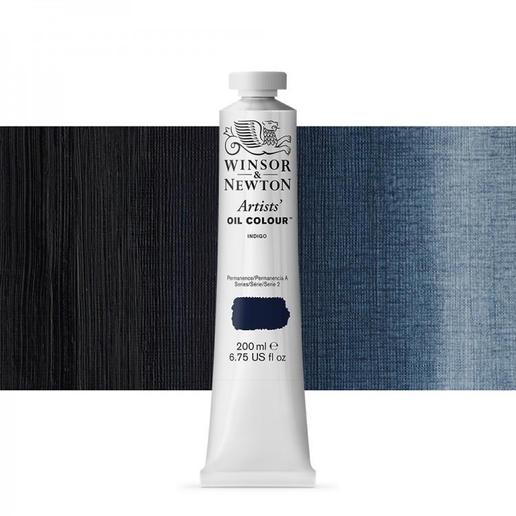 Winsor & Newton : Artists Oil Paint 200ml : Indigo