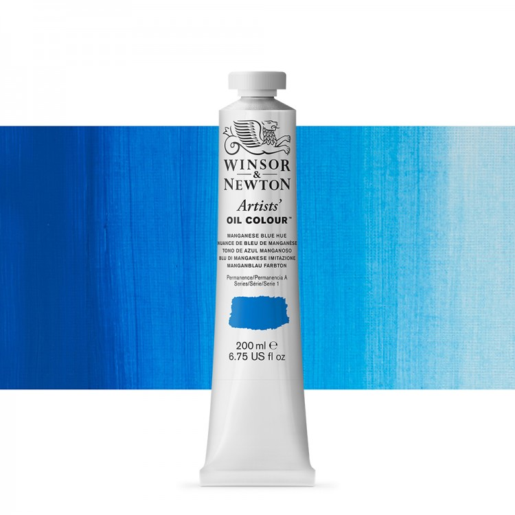 Winsor and Newton : Artists Oil 200ml : MANGANESE BLUE HUE