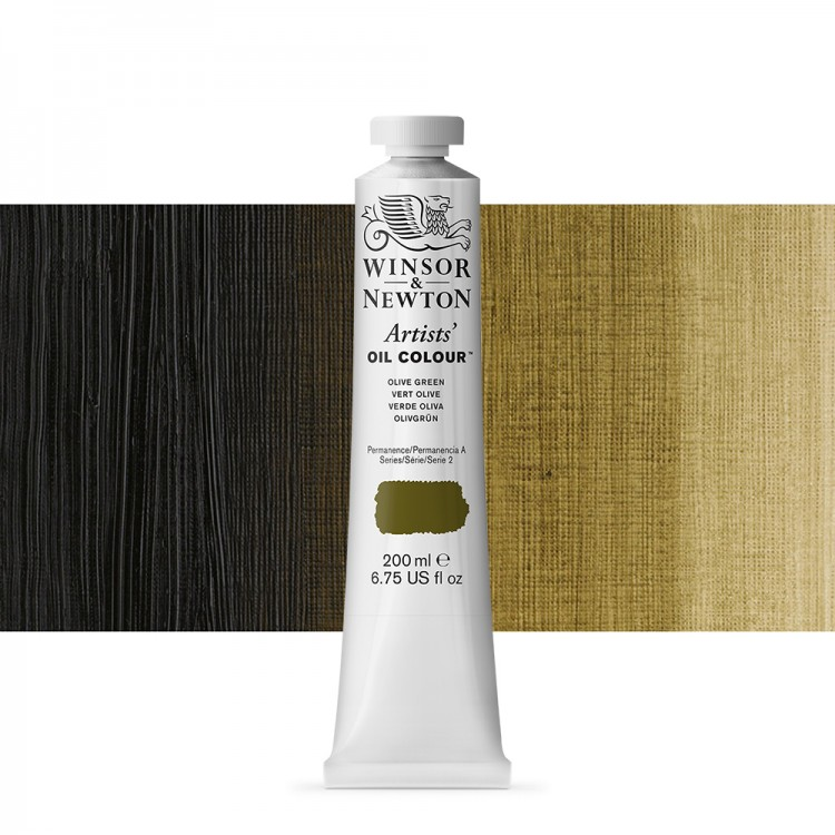 Winsor & Newton : Artists Oil Paint 200ml : Olive Green
