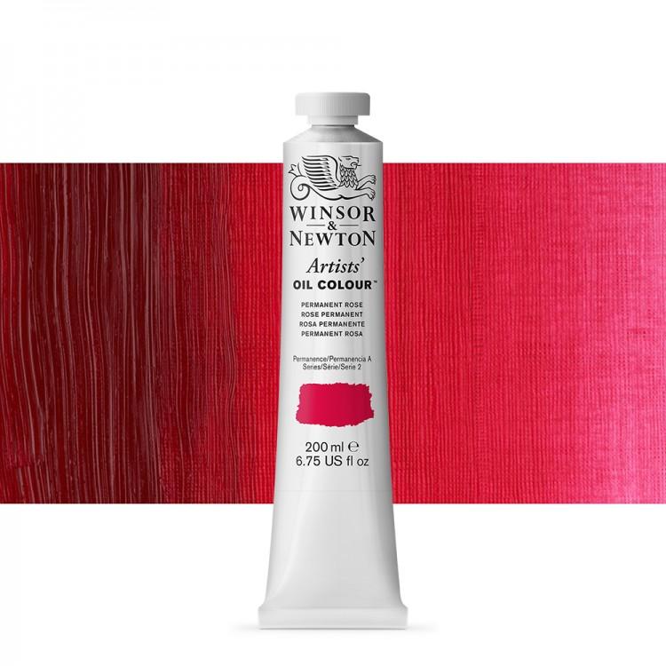 Winsor & Newton : Artists Oil Paint 200ml : Permanent Rose