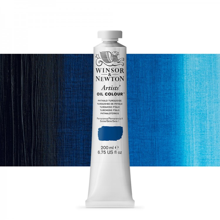 Winsor & Newton : Artists Oil Paint 200ml : Phthalo Turquoise