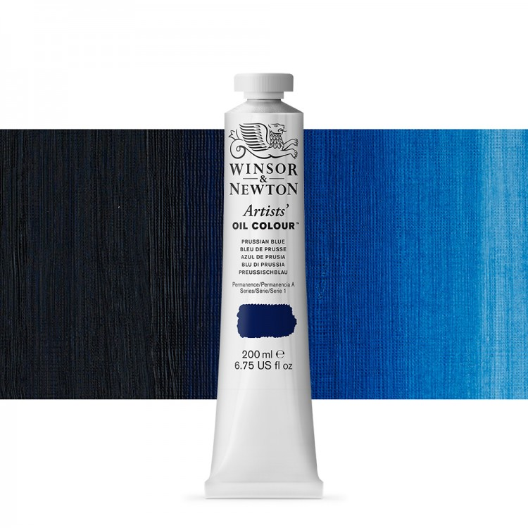 Winsor & Newton : Artists Oil Paint : 200ml : Prussian Blue