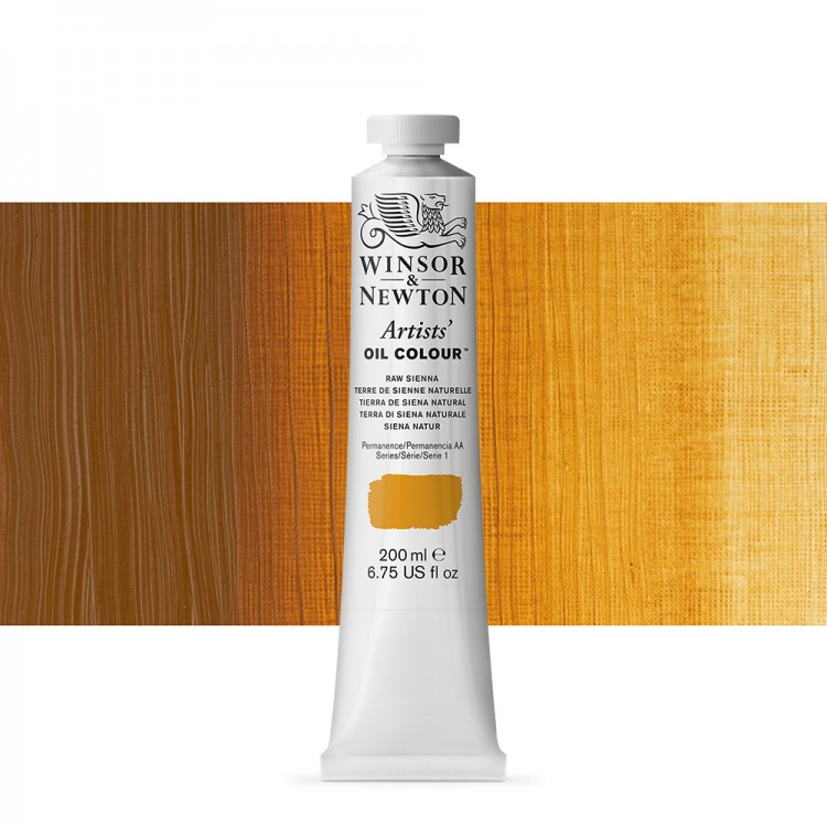 Winsor & Newton : Artists Oil Paint 200ml : Raw Sienna
