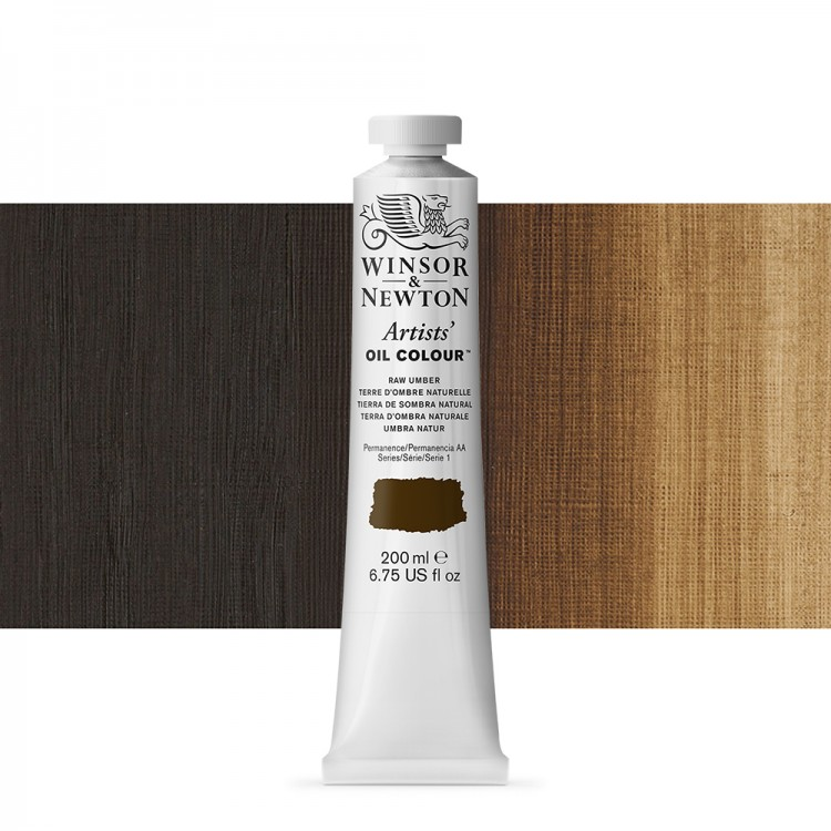 Winsor & Newton : Artists Oil Paint 200ml : Raw Umber